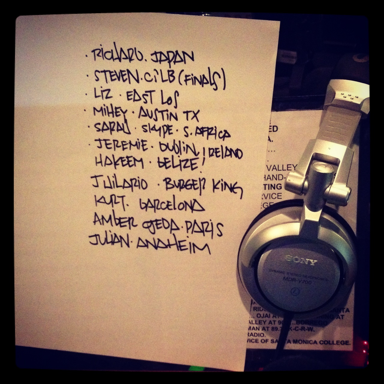 KCRW PLAYLIST | 15 MAY 2012
