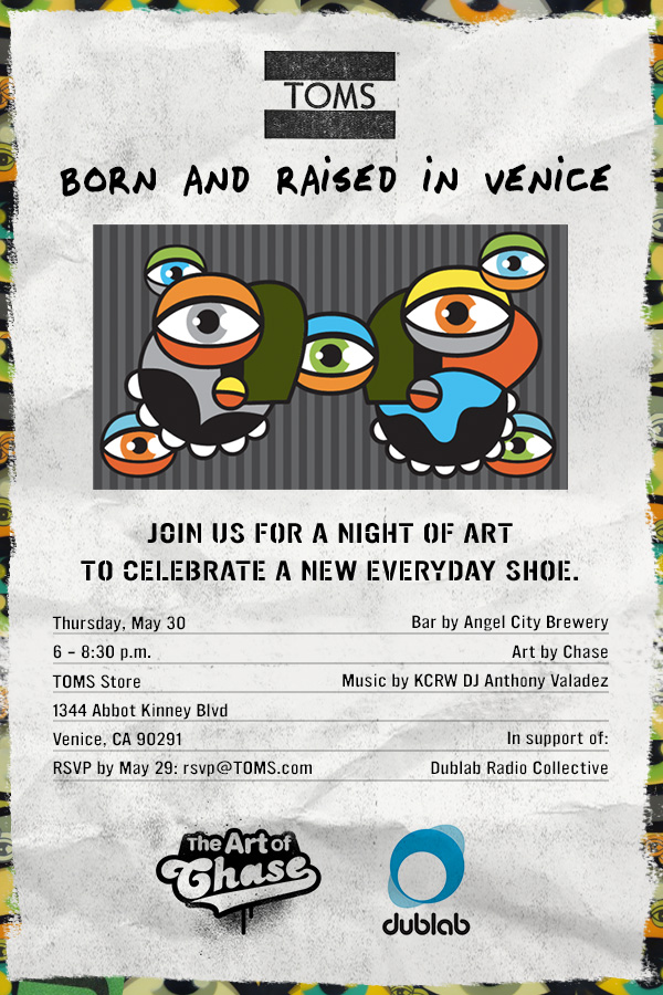 TOMS | BORN AND RAISED IN VENICE | 30 MAY 2013