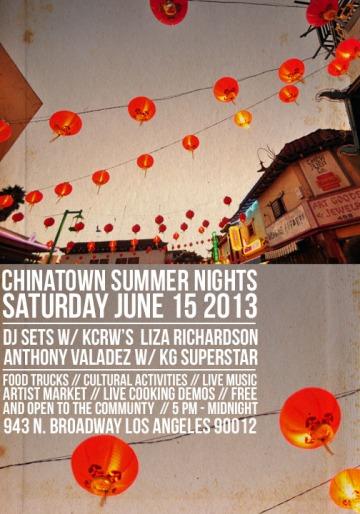CHINATOWN SUMMER NIGHTS