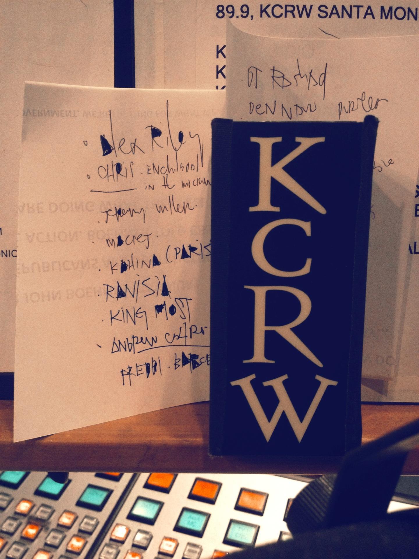KCRW PLAYLIST | 23 JULY2013