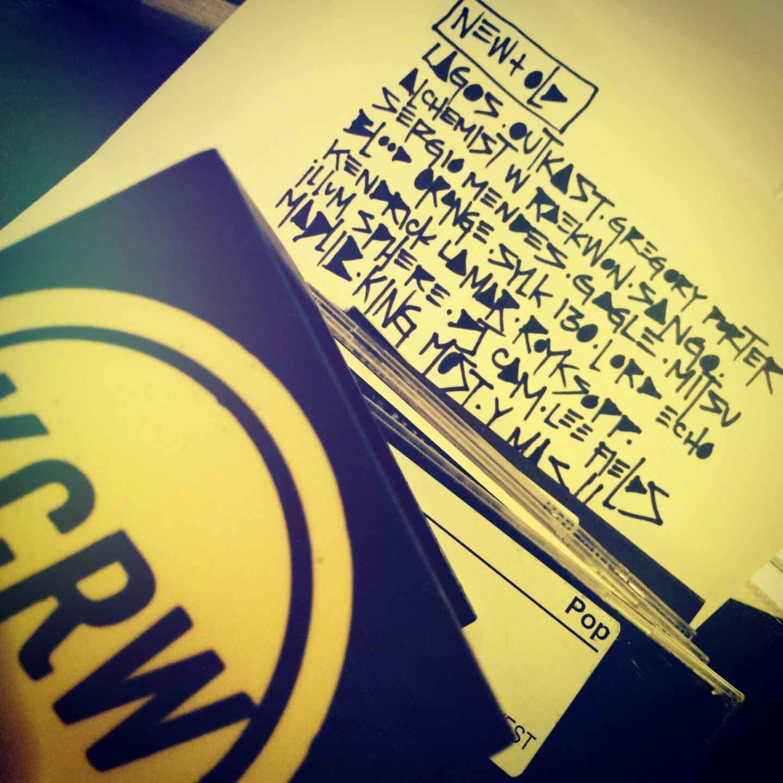 KCRW PLAYLIST | 14 JAN2013
