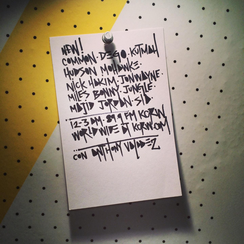 KCRW PLAYLIST | 23 JULY2014